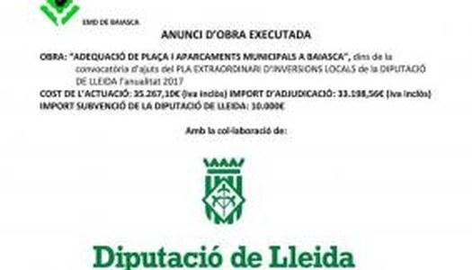 ADEQUACIÓ DE PLAÇA I APARCAMENTS MUNICIPALS A BAIASCA