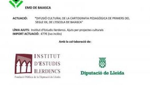"""""""DIFUSIÓ CULTURAL DE LA CARTOGRAFIA DE L'ESCOLA DE BAIASCA"""""""
